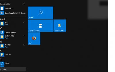 Tech Tip – Start Menu Folders